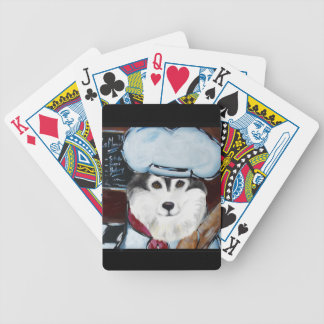 Alaskan Malamute Chef Poker Deck