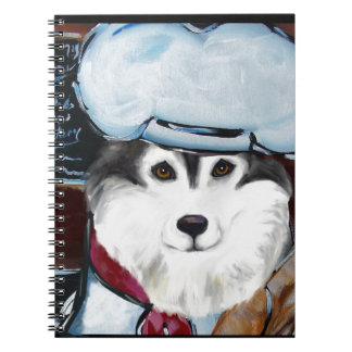 Alaskan Malamute Chef Spiral Note Book