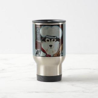 Alaskan Malamute Chef Travel Mug