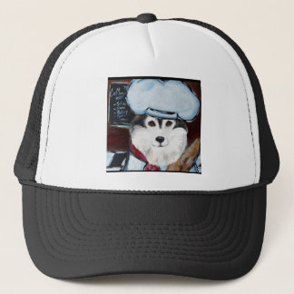 Alaskan Malamute Chef Trucker Hat
