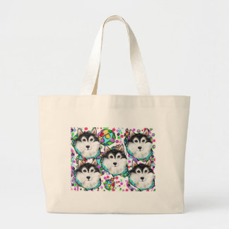ALASKAN MALAMUTE CHRISTMAS LARGE TOTE BAG