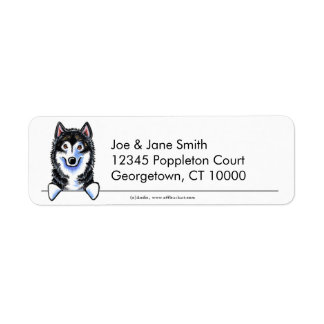 Alaskan Malamute Clean n Simple Return Address Label