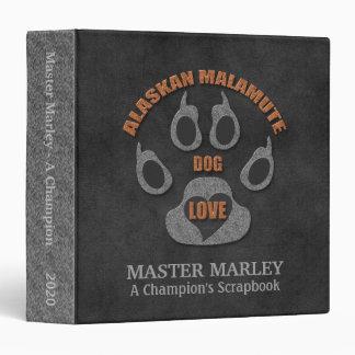 Alaskan Malamute Dog Breed Personalized Scrapbook Binder
