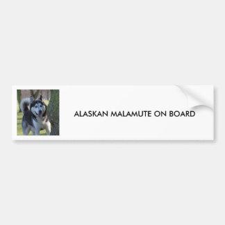 Alaskan Malamute dog, BUMPER STICKER