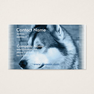Alaskan Malamute Dog Business Card