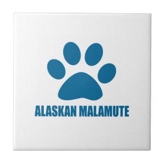ALASKAN MALAMUTE DOG DESIGNS TILE