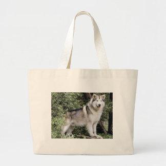 Alaskan Malamute Dog Large Tote Bag