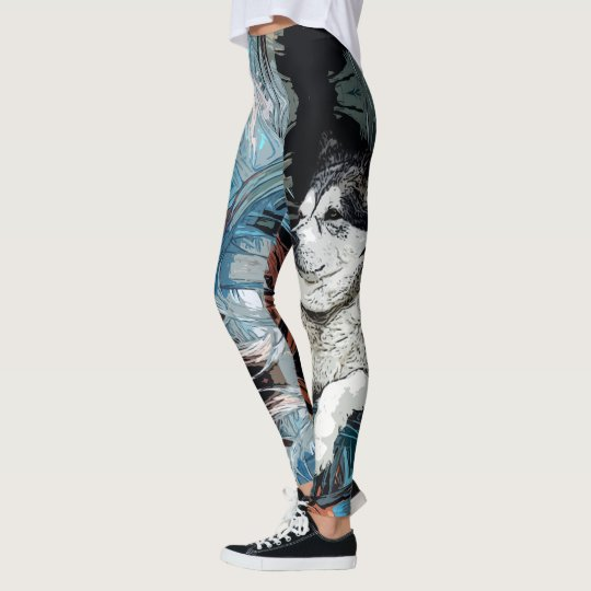 Alaskan Malamute Dog Leggings