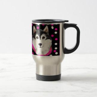 Alaskan Malamute Easter Travel Mug