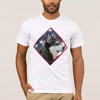 Alaskan Malamute Flag 2 T-Shirt