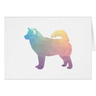 Alaskan Malamute Geometric Pattern Silhouette Card