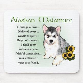 Alaskan Malamute Gifts Mouse Pad