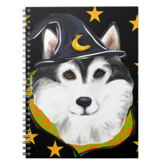 Alaskan Malamute Halloween Spiral Notebook