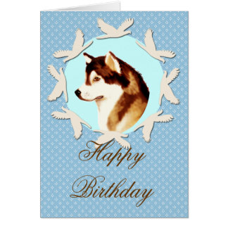 Alaskan Malamute Happy Birthday Card
