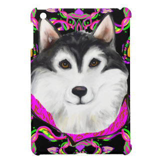 ALASKAN MALAMUTE - MARDI GRAS COVER FOR THE iPad MINI