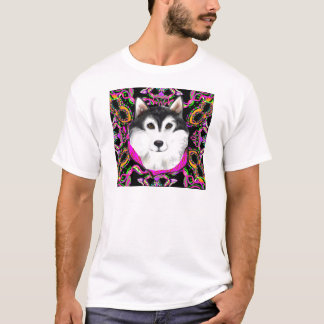 ALASKAN MALAMUTE - MARDI GRAS T-Shirt