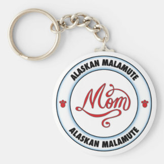 ALASKAN MALAMUTE mom Basic Round Button Keychain