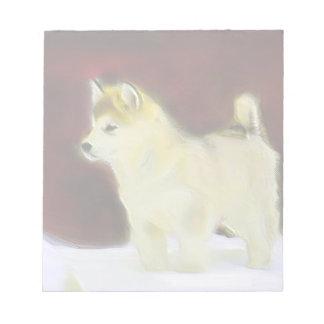 Alaskan malamute notepad
