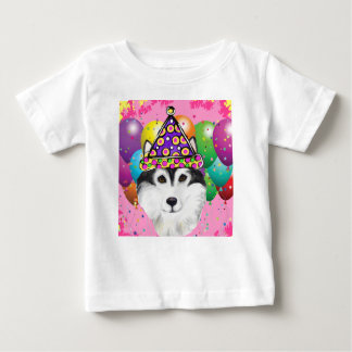 Alaskan Malamute Party Dog Baby T-Shirt