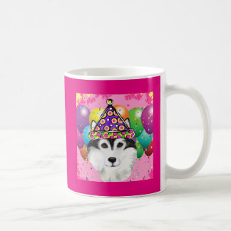 Alaskan Malamute Party Dog Coffee Mug