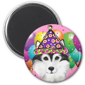 Alaskan Malamute Party Dog Magnet