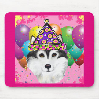 Alaskan Malamute Party Dog Mouse Pad