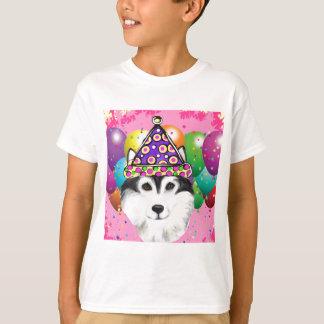 Alaskan Malamute Party Dog T-Shirt
