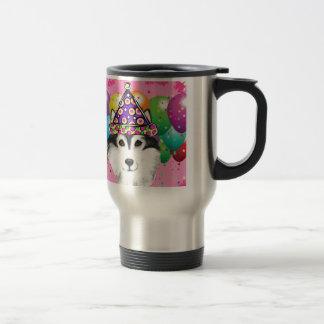 Alaskan Malamute Party Dog Travel Mug