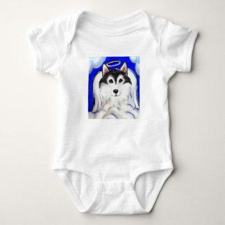 ALASKAN MALAMUTE PET ANGEL BABY BODYSUIT
