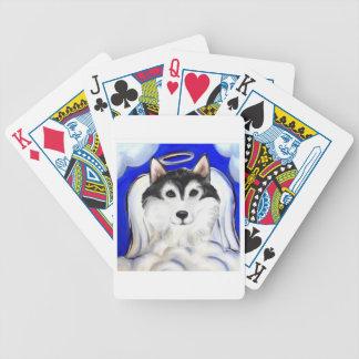 ALASKAN MALAMUTE PET ANGEL BICYCLE PLAYING CARDS
