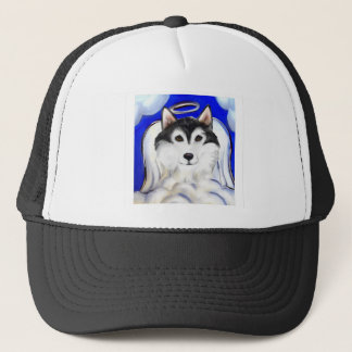 ALASKAN MALAMUTE PET ANGEL TRUCKER HAT
