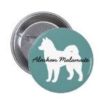 Alaskan Malamute Pinback Buttons