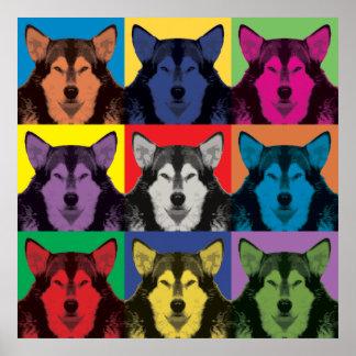 Alaskan Malamute Pop-Art Poster
