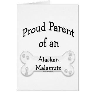 Alaskan Malamute Proud Parent Card