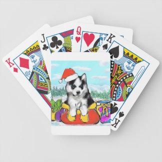 Alaskan Malamute Puppy Bicycle Playing Cards