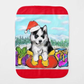 Alaskan Malamute Puppy Burp Cloth