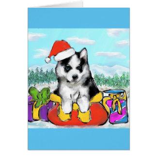 Alaskan Malamute Puppy Card