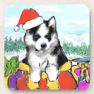Alaskan Malamute Puppy Coaster