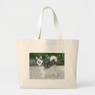 Alaskan Malamute Puppy Dog Large Tote Bag