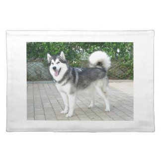 Alaskan Malamute Puppy Dog Place Mat