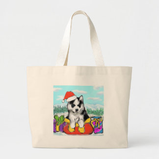 Alaskan Malamute Puppy Large Tote Bag