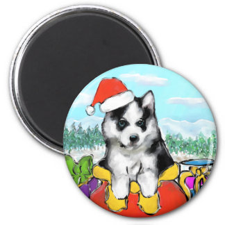 Alaskan Malamute Puppy Magnet