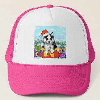 Alaskan Malamute Puppy Trucker Hat