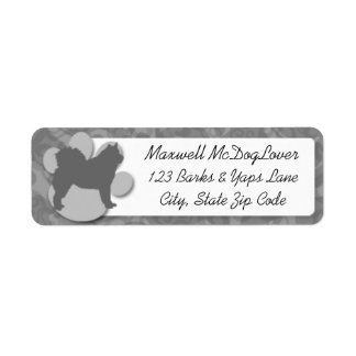 Alaskan Malamute Silhouette Return Address Label