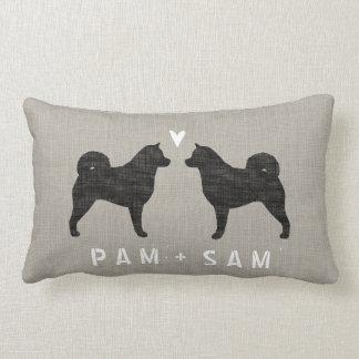 Alaskan Malamute Silhouettes Love - Personalize Lumbar Pillow