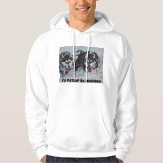 alaskan malamute sled dog hoodie