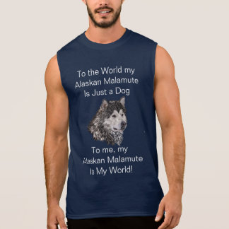 Alaskan Malamute Sleeveless Shirt
