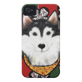 Alaskan-Malamute St. Patty iPhone 4 Case