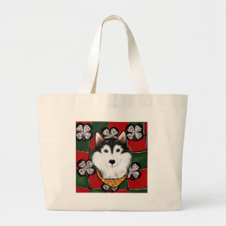 Alaskan-Malamute St. Patty Large Tote Bag