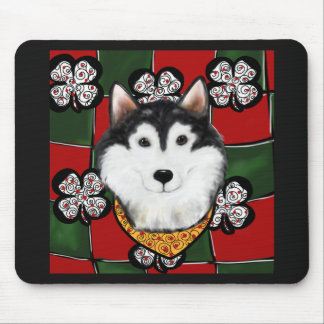 Alaskan-Malamute St. Patty Mouse Pad